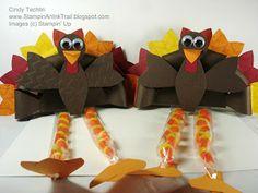 Stampin' an Ink Trail: Truly Grateful Turkeys