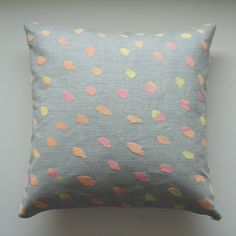 Now available from my shop - Screenprinted cushion - Polka Blend