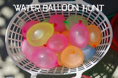 Mess For Less: We're Going on a Water Balloon Hunt