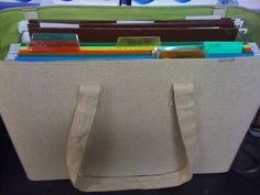 use a filing tote with straps for turned in papers- can take it home with you to grade and it's all organized. Got one from Target!