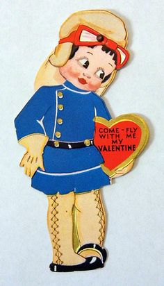 """Vintage Valentine - """"Come Fly With Me, My Valentine""""."""