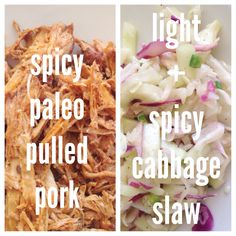 spicy paleo pulled pork + cabbage slaw! // easy healthy paleo crockpot meals! http://blog.madisoncary.com/2014/08/11/spicy-paleo-pulled-pork-light-cabbage-slaw/