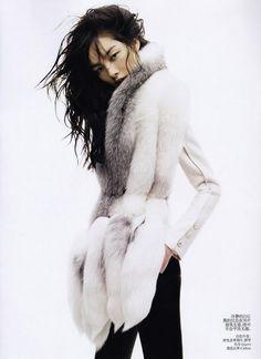 vogue, fashion, furs, style, vogu china, josh olin, coat, fei fei, fei sun