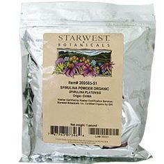 Starwest Botanicals, Spirulina Powder, Organic, 1 lb - iHerb.com. Bruk gjerne rabattkoden min (CEC956) hvis du vil handle på iHerb for første gang. Da får du $5 i rabatt på din første ordre (eller $10 om du handler for over $40), og jeg blir kjempeglad, siden jeg får poeng som jeg kan handle for på iHerb. :-)