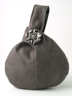 GRAY ultra suede wristlet bag by daphnenen on Etsy, $45.00