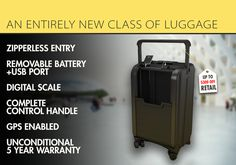 Trunkster: Zipperless Luggage with GPS + Battery + Scale by Trunkster — Kickstarter