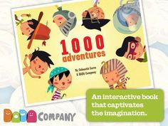 Discount: 1000 Adventures - An interactive story book, with animals, robots, dinosaurs, pirates, princesses … is now 0.99$ (was 2.99$).