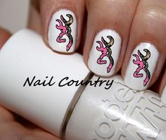 50pc+Country+Pink+Camo+Deer+Nail+Decals+Nail+Art+by+NailCountry,+$3.99