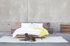 Man's best friend and an HD Buttercup bedroom set.  #HDButtercupxgoop