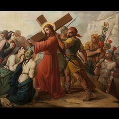 19TH CENTURY SCHOOL. Jesus Consoling the Sons of Jerusalem