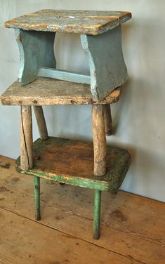Chippy Primitive Stools