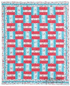 Woven Ribbons designed by Carolyn Beam for Quiltmaker's Jan/Feb '14 issue. http://www.quiltmaker.com/patterns/details.html?idx=15410