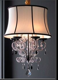 Shaded Chandelier ....not quite sure where this would go but I like it!