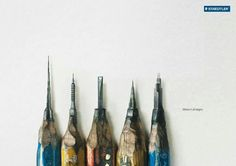 Pencil crafting where building created.  Poster design