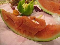 Watermelon Dinosaur by Chef Joe Poon