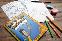 """The perfect gift for a budding artist! The """"How to Draw Cartoons"""" kit  is great for anyone interested in drawing, cartooning, comic arts, creating graphic novels and more."""