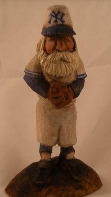New York Yankee Santa Carving one of my favorite carvings