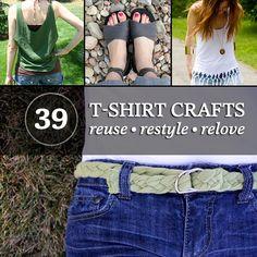 tons of reuse t-shirt ideas