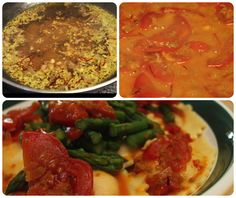 sauc tomato, lobster ravioli, reduct sauc, lobster stock