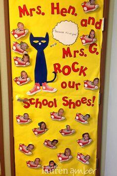 Teacher Appreciation Door Decorating...Pete the Cat theme