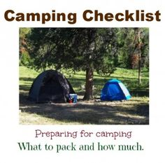 Post image for Camping Checklist, Preparing for Camping