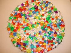 Make a bowl or tray by melting down spare plastic beads. (Outside in a toaster oven to prevent harmful fumes!) Tutorial from c0urt on Cut Out and Keep. great summer project must try! :: ecrafty