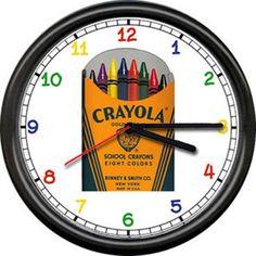 Crayola Clock