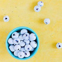 Frozen Yogurt Blueberries - yum!