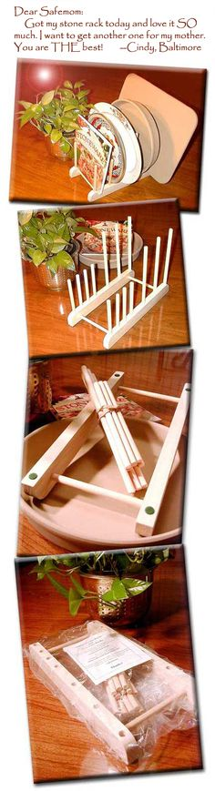 Stoneware rack for Pampered Chef consultants