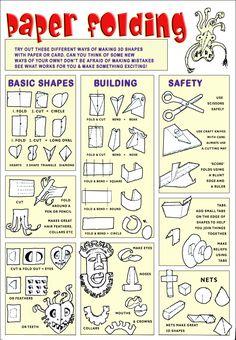 paper folding paper sculpture lessons, paper folds, paper craft, creativ fold, sculpture art projects, art idea, paper sculpture for kids, papers, creativ idea