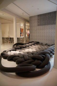 knitted carpet / art