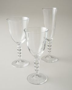 """Perla"" Glassware at Horchow."