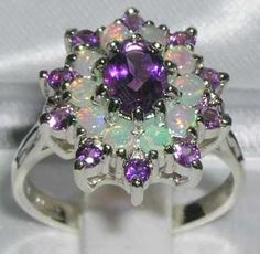 opal and amethyst ring