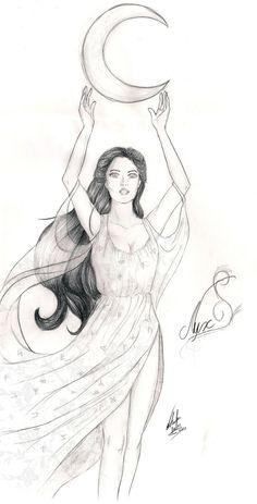 Goddess Nyx - House of Night by ~NatBelus on deviantART