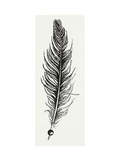 Black Feather Tattoo, minus the ball thing.
