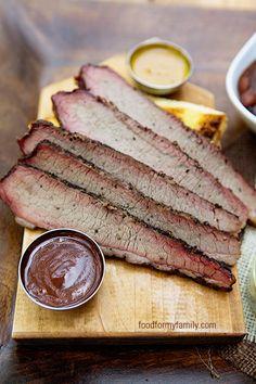 Smoked Beef Brisket #recipe via FoodforMyFamily.com