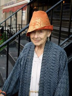 """Pinned stated:At the Movies: """"I saw this wonderful woman at the movie theater and asked if I could take her photo. She told me that she was 99 years old and has lived in Manhattan her whole life. Fania is a Fabric designer and has worked with many studios throughout her long career.She has had most of her clothes for many years and always dresses up. While standing on the street corner, she pointed out buildings to me   """"  (Ari Seth Cohen on Advanced St..."""