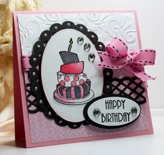Happy Birthday Card - Greeting Card - Handmade Card  - Unity Stamps - OOAK. $3.95, via Etsy.