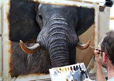 How to paint an elephant in oils short tutorial by Jason Morgan. paint idea, paint god, paint persuas, paint tutori, oil paint, draw paint