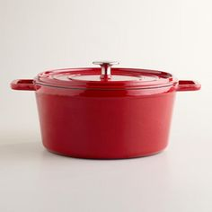 One of my favorite discoveries at WorldMarket.com: Cherry Round Dutch Oven