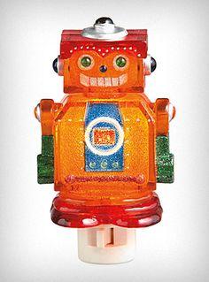 Retro robot night light