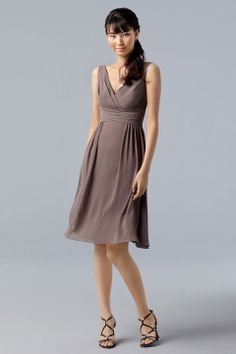 Fashionable A-line empire waist chiffon dress for bridesmaid,$101.80