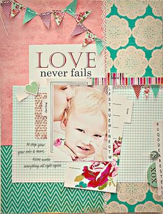 Layout using Head over Heals from Lily Bee