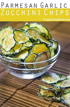 Parmesan Garlic Zucchini Chips.  #healthy #primal #snacks. These are awesome. If you are looking for a healthier alternative for chips, you found what you are looking for!