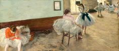 """The Dance Lesson by Edgar Degas. Read """"A Lesson in Composition to Help You Paint Like Degas"""" at ArtistsNetwork.com. #Degas #painting"""