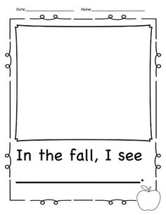 kindergarten fall literacy