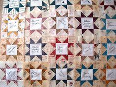 Quilt Otaku: Wedding signature quilt