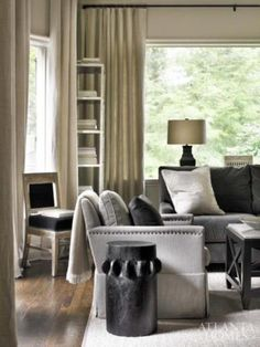 Monochromatic living room. chair, interior, living rooms, decorating blogs, color schemes, colors, neutral palette, live room, design