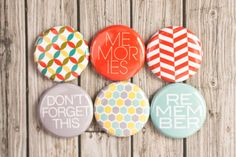 Project Life Flair Buttons  Remember Memories  by alifehandmade