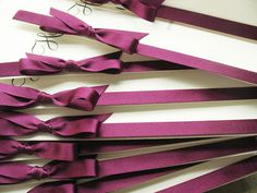 plum ribbon